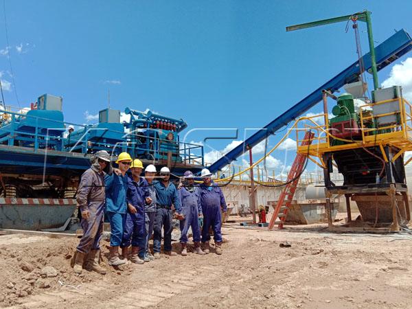 Drilling mud cutting waste treatment